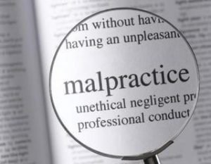 Dictionary Entry for Malpractice